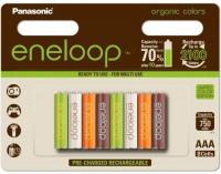 Аккумуляторная батарейка Panasonic Eneloop Organic 8xAAA 750 mAh