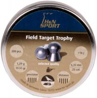 Пули и патроны Haendler & Natermann Field Target Trophy 6.35 mm 1.29 g 200 pcs