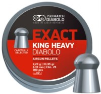 Пули и патроны JSB Diabolo Exact King Heavy 6.35 mm 2.2 g 300 pcs