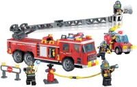 Фото - Конструктор Brick Scaling Ladder Fire Engines 908