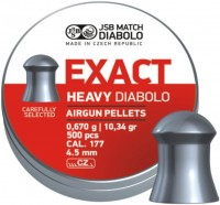 Пули и патроны JSB Exact Heavy Diabolo 4.5 mm 0.67 g 500 pcs