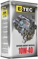 Моторное масло E-TEC ASM 10W-40 4L