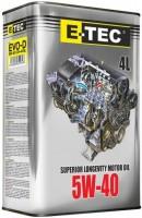 Моторное масло E-TEC EVO-D 5W-40 4L