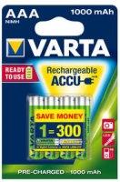 Аккумуляторная батарейка Varta Professional 4xAAA 1000 mAh