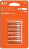 Аккумуляторная батарейка ACME 6xAAA Alcaline