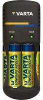 Зарядка аккумуляторных батареек Varta Pocket Charger + 4xAA 2500 mAh