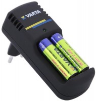 Фото - Зарядка аккумуляторных батареек Varta Easy Line Mini Charger + 2xAA 2400 mAh