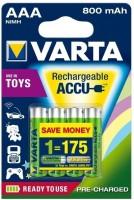 Аккумуляторная батарейка Varta Toys Accu 4xAAA 800 mAh