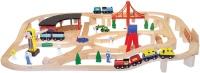 Автотрек / железная дорога Melissa&Doug Wooden Railway Set