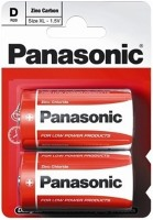 Фото - Аккумуляторная батарейка Panasonic Red Zink 2xD