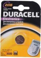 Аккумуляторная батарейка Duracell 1xCR2016 DSN