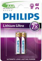 Аккумуляторная батарейка Philips Lithium Ultra 2xAAA