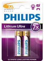 Аккумуляторная батарейка Philips Lithium Ultra 2xAA