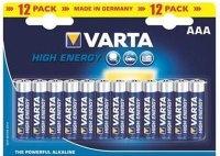 Аккумуляторная батарейка Varta High Energy 12xAAA