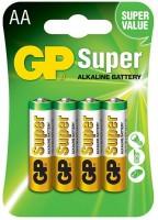 Аккумуляторная батарейка GP Super Alkaline 4xAA