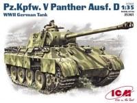 Фото - Сборная модель ICM Pz.Kpfw.V Panther Ausf.D (1:35)
