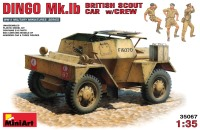 Сборная модель MiniArt Dingo Mk.Ib British Scout Car w/Crew (1:35)