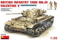Сборная модель MiniArt Infantry Tank Mk.III Valentine V w/Crew (1:35)