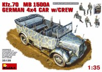Сборная модель MiniArt Kfz.70 MB 1500A German 4x4 Car w/Crew (1:35)