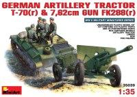 Сборная модель MiniArt Artillery Tractor T-70(r) and 7.62cm Gun FK288(r) (1:35)