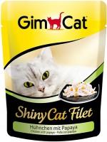 Фото - Корм для кошек Gimpet Adult Shiny Cat Filet Chicken/Papaya 0.07 kg