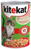 Фото - Корм для кошек Kitekat Adult Canned with Duck 0.4 kg