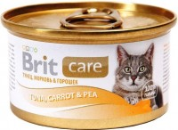 Фото - Корм для кошек Brit Care Adult Canned Tuna/Carrot/Pea 0.08 kg