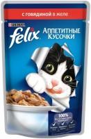 Фото - Корм для кошек Felix Packaging Adult Fantastic Jelly Beef 0.1 kg