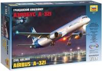Сборная модель Zvezda Airbus A-321 (1:144)