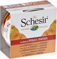 Фото - Корм для собак Schesir Adult Canned Chicken/Papaya 0.15 kg