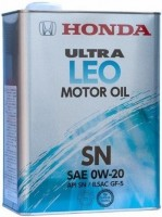 Моторное масло Honda Ultra LEO 0W-20 SN 1L