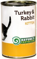 Фото - Корм для кошек Natures Protection Kitten Canned Turkey/Rabbit 0.4 kg