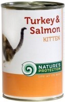 Фото - Корм для кошек Natures Protection Kitten Canned Turkey/Salmon 0.4 kg