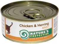 Фото - Корм для кошек Natures Protection Adult Canned Chicken/Herring 0.1 kg