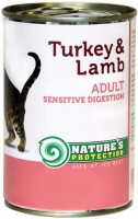 Фото - Корм для кошек Natures Protection Sensible Digestion Canned Turkey/Lamb 0.4 kg
