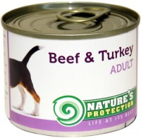 Фото - Корм для собак Natures Protection Adult Canned Beef/Turkey 0.2 kg