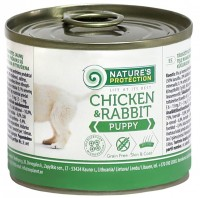 Фото - Корм для собак Natures Protection Puppy Canned Chicken/Rabbit 0.2 kg