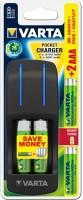 Фото - Зарядка аккумуляторных батареек Varta Pocket Charger + 2xAA 2100 mAh + 2xAAA 800 mAh