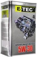 Моторное масло E-TEC TEC 5W-30 4L