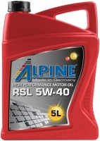 Моторное масло Alpine RSL 5W-40 5L