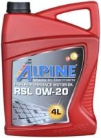 Моторное масло Alpine RSL 0W-20 4L