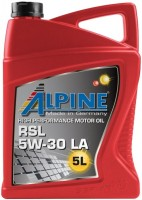 Моторное масло Alpine RSL 5W-30 LA 5L
