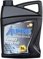 Моторное масло Alpine Turbo 15W-40 5L