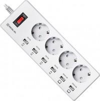 Сетевой фильтр / удлинитель REAL-EL RS-4F Charge 6 1.8m
