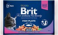 Корм для кошек Brit Premium Pouches Fish Plate 0.1 kg