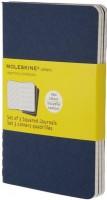 Блокнот Moleskine Set of 3 Squared Cahier Journals Large Blue