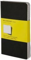Блокнот Moleskine Set of 3 Squared Cahier Journals Large Black
