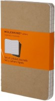Блокнот Moleskine Set of 3 Ruled Cahier Journals Large Beige