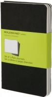 Блокнот Moleskine Set of 3 Plain Cahier Journals Pocket Black