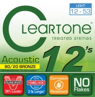 Струны Cleartone 80/20 Bronze Light 12-53